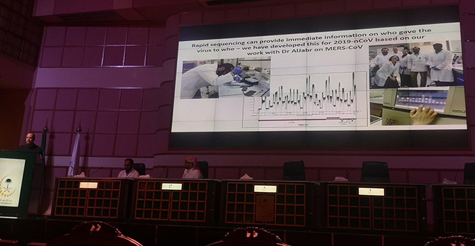 Julian sharing our work on MERS in Riyadh in February