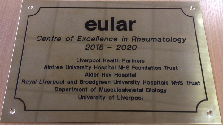 EULAR Centre of Excellence signage