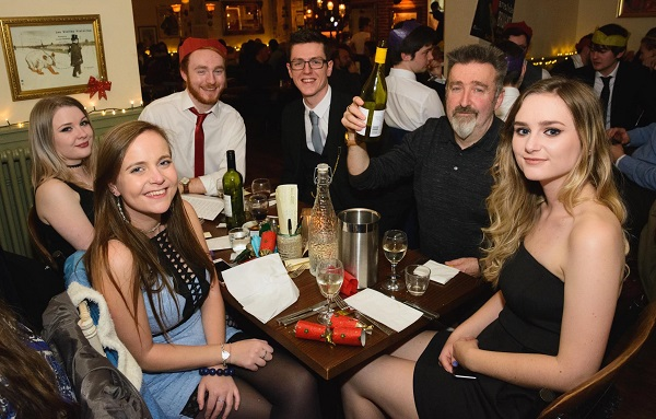 ACE staff and student drinks
