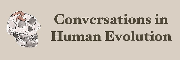 Conversations in Human Evolution student blog logo.