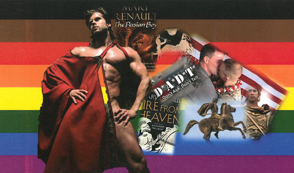 Montage of LGBT-themed Alexander the Great imagery