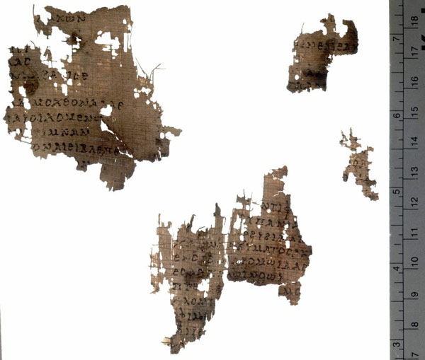 Fragments of ancient writing