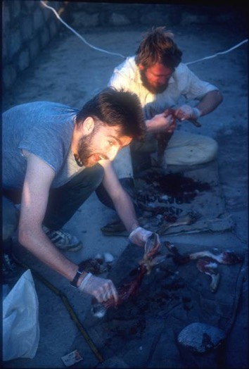 On a dig in Northern Iraq in 1986.
