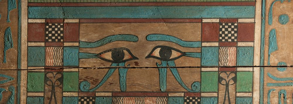Egyptian artefact with eye design