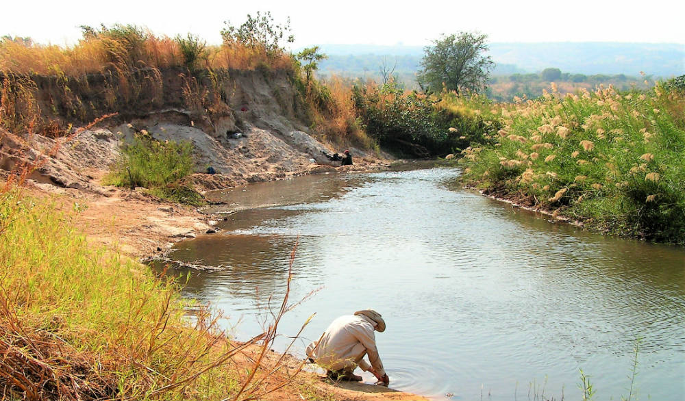 Archaeologist at the Kalambo River site