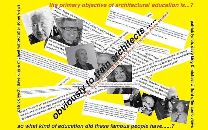 What is the objective of architectural education?