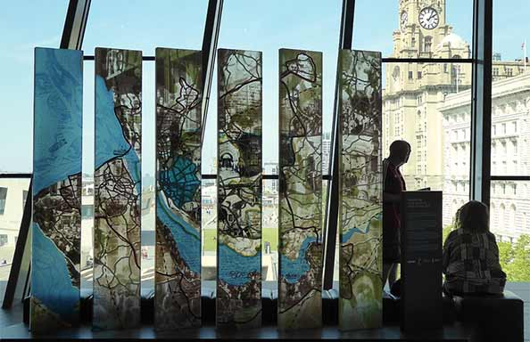 The Liverpool Map, by Inge Panneels and Jeffrey Sarmiento, 2011, Museum of Liverpool; photo Gloria Lanci