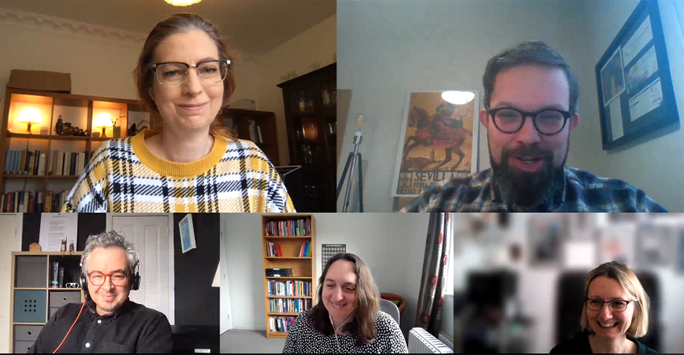 Host and Guests in Online Meeting
