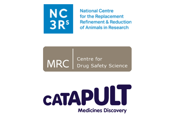 OOAC (Logos for NC3Rs, MRC CDSS and Medicines Discovery Catapult)