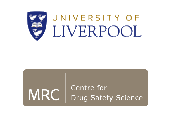 University of Liverpool and MRC Centre for Drug Safety Science Logos