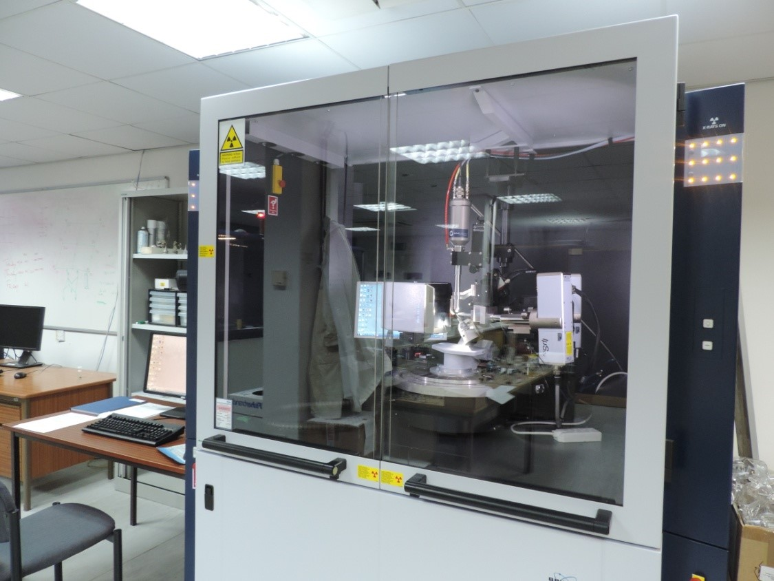 Bruker D8 Venture dual microfocus (Mo & Cu) diffractometer with Photon 100 CMOS detector; Oxford Cryostream 700 for routine collection between 90 – 400 K