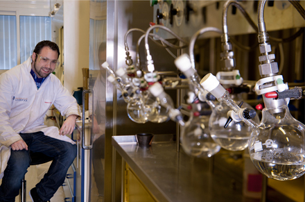Postgraduate student in our synthetic chemistry research facility