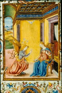 MS F.2.23 f13 - The Annunciation