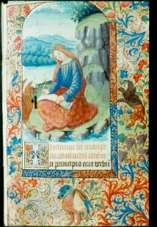 MS F.2.8 f13 - St John (Copyright © The University of Liverpool Library)