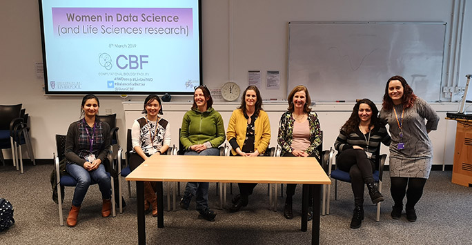 Women in data science event attendees