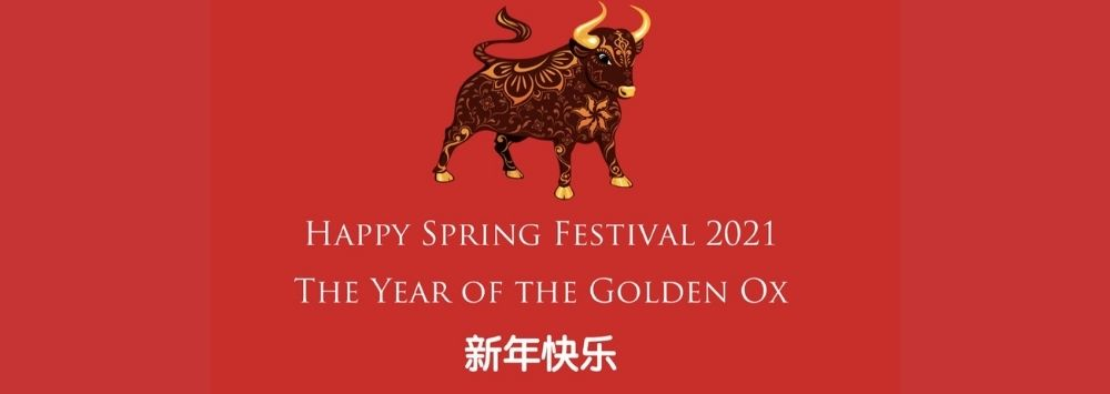 Chinese new year 2021 year of the golden ox happy new year