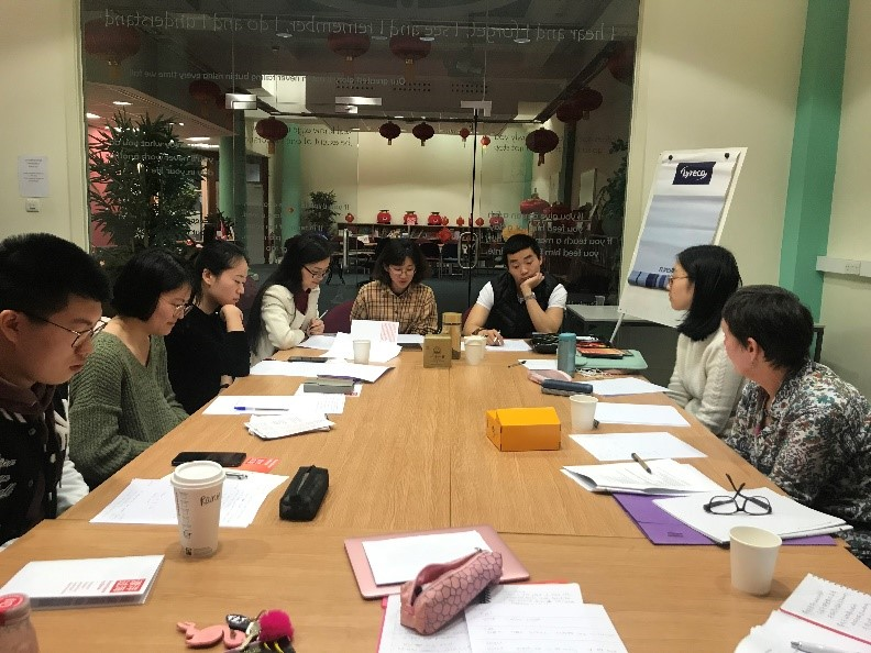 From Here to There: Playwright Mary Cooper leads bilingual writing workshop at Confucius Institute
