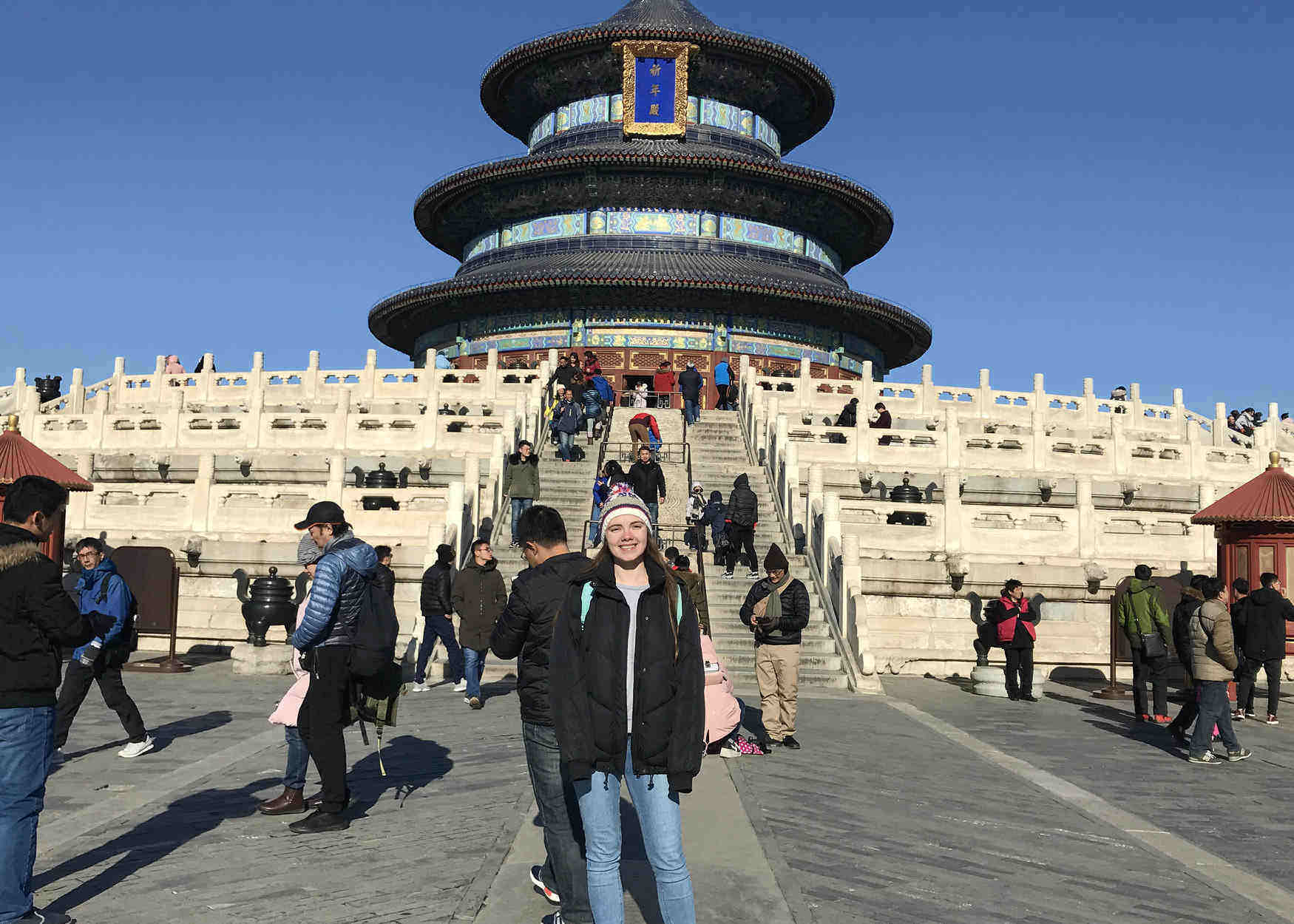 An image of student Manon Sowerby in China