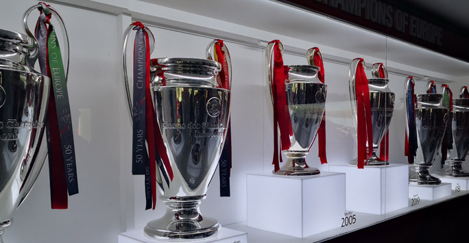 Champions League Trophies, Anfield