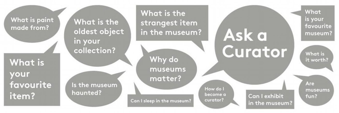 Question bubbles with #askacurator questions