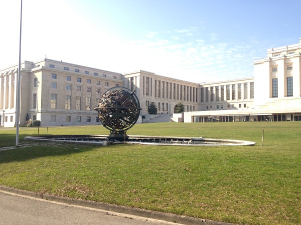 UN building and grounds in Geneva