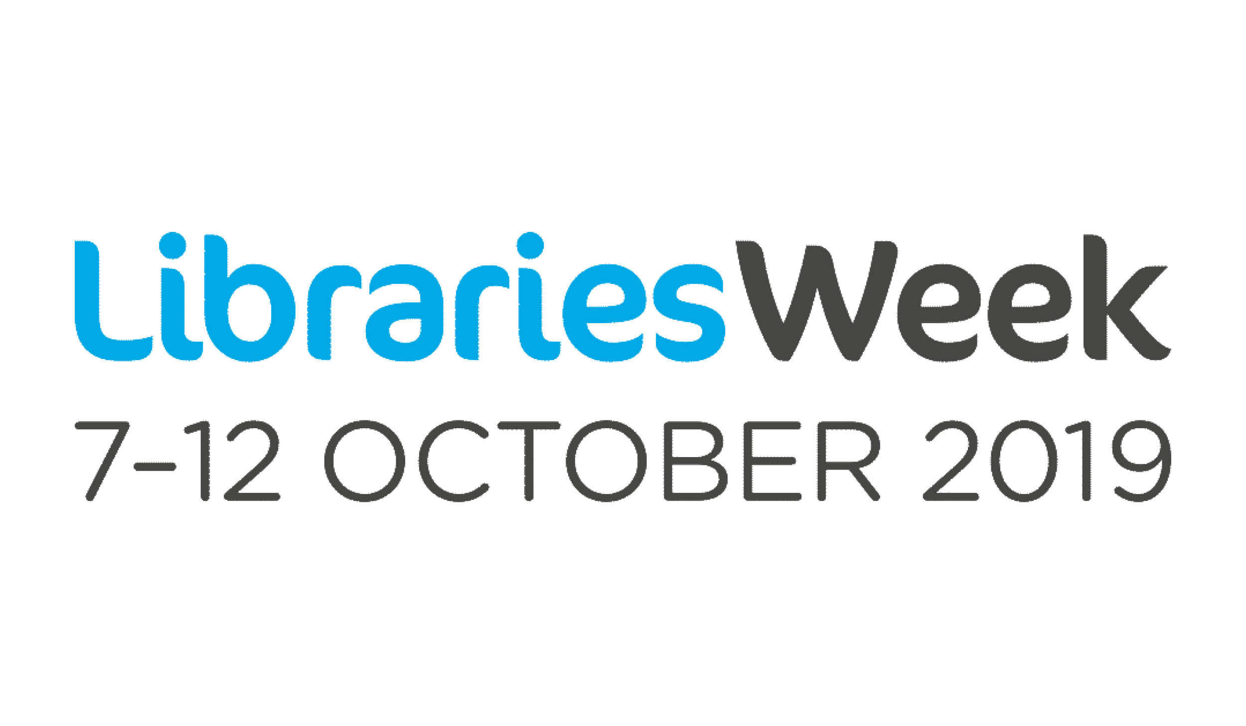 National Libraries Week logo.