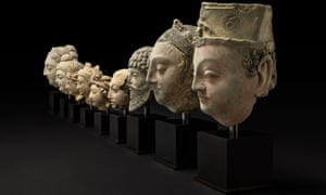 Buddhist terracotta heads looted in Afghan war.