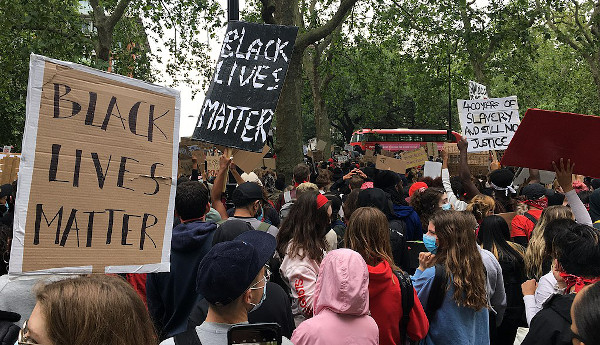Black Lives Matter protesters in Hyde Park, London