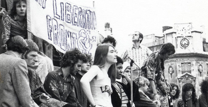 Demonstration with Gay Liberation Front