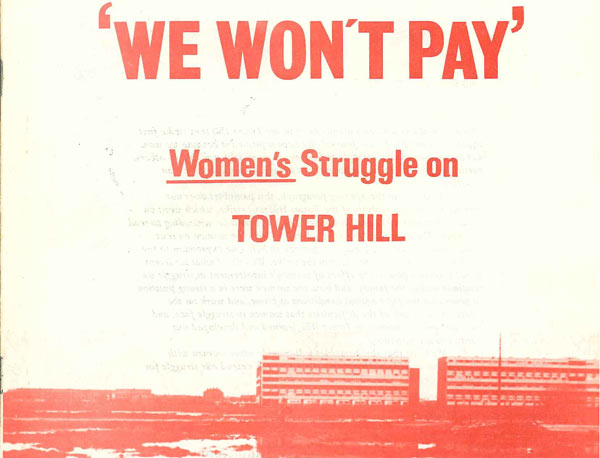'Women's struggle on Tower Hill' leaflet