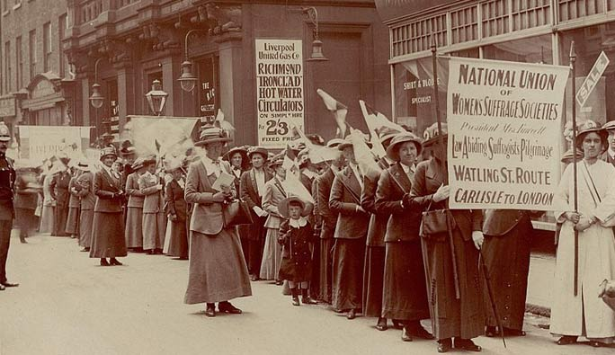 Suffragette protest 1910