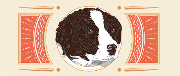 Illustration of a dog