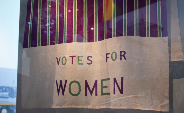 Votes for Women banner