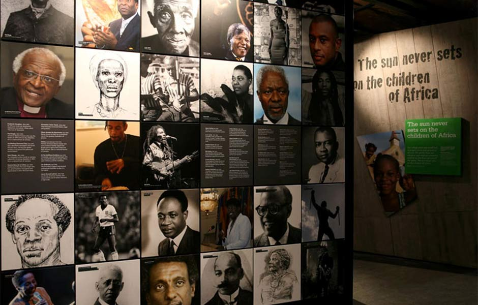 Black achievers wall at the International Slavery Museum