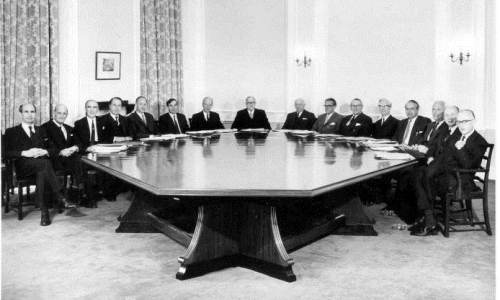 A meeting of the Medical Research Council, circa 1960s