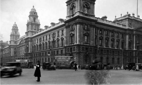 A historical image of Whitehall, London