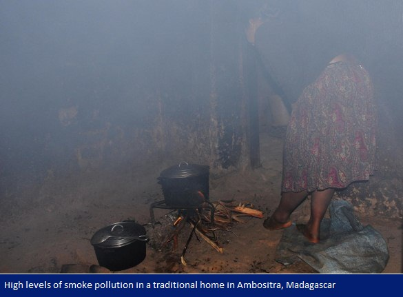 high levels of smoke pollution in a traditional home in Ambositra, Madagascar