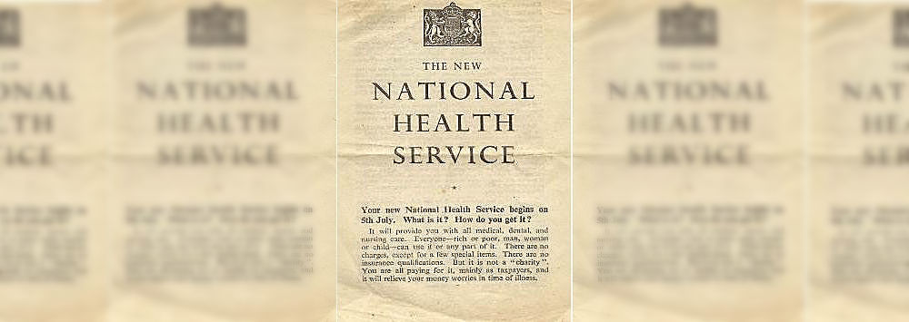 A leaflet from the launch of the NHS, 1948