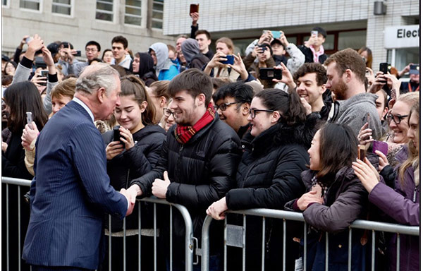 Prince of Wales meeting the crowd