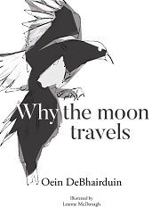 why the moon travels book cover black and white abstract image