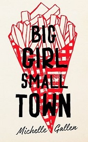 big girl small town book cover - book title in black text over a handdrawn red image of a portion of chips