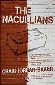 Nacullians book cover - red brick wall, half painted white with an outline of a single brick under the book title across the top