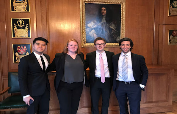 Liverpool Law Students Jessup 2019 team