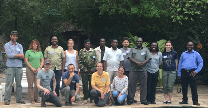 Research team in Southern Kenya