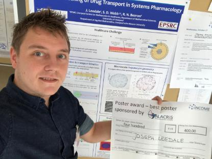 Dr Joseph Leedale from LCMH Poster Prize - Germany - October 2018