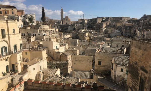 The city of Matera in Italy