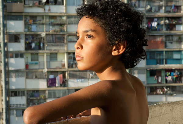 Boy in a slum