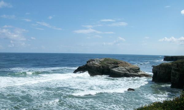 Rocky coast and blue skies