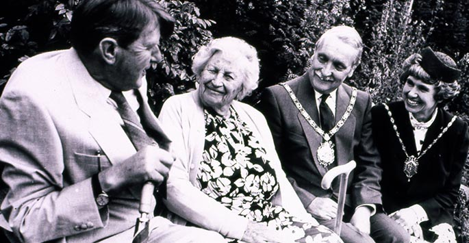 Ken Hulme - Director of Ness Botanic Gardens (1957) with Louise Bulley