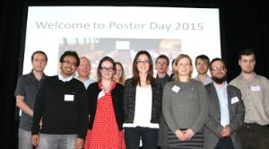 All prize winners at Poster Day 2015